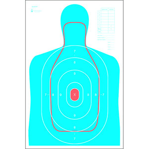 Law Enforcement Targets B-27E and FBI Q Combo Target (RC-B27E-Q)