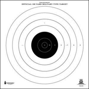 Law Enforcement Targets Official NRA 100 Yard Round Target (NRA-SR-1)