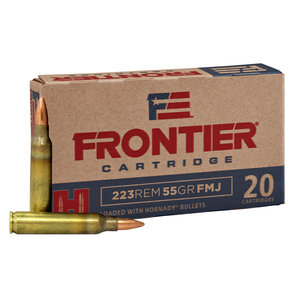 Hornady Frontier 223 Remington 55 Grain FMJ (#FR100)