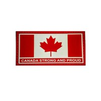 Red /& White 2x4 PVC Morale Patch Canadian Forces Veteran