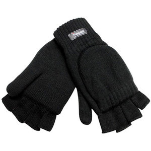 Misty Mountain Double Layer Flip Mitt (BLACK) Thinsulate (6629-BLK)