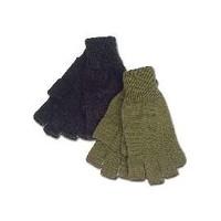 Mil-Spex Mil-Spex BLACK Acrylic Fingerless Gloves (#6620-BLK)