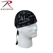 Rothco Rothco Guns Headwrap (#5197) Black/Silver
