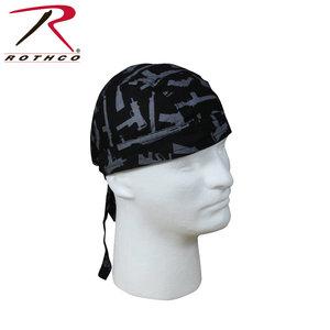 Rothco Rothco Guns Headwrap (#5197) Black/Silver