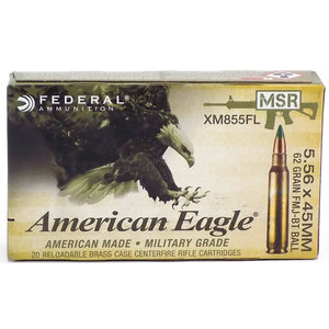American Eagle American Eagle 5.56x45mm NATO 62 Grain FMJ-BT Ball (#XM855FL)