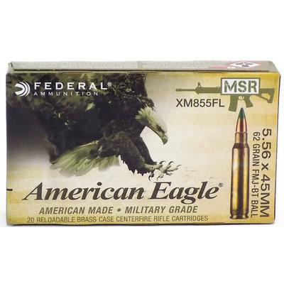 American Eagle American Eagle 5.56x45mm NATO 62 Grain FMJ-BT Ball (#XM855FL)