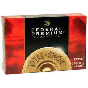 """Federal Federal (P156-4B) Premium Vital-Shok Buckshot 12 GA 2-3/4"""" 34-Pellet Mag"""