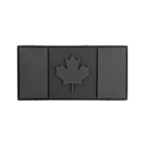 "Tactical Innovations Canada Flag Patch (BLACKOPS) PVC (2""x4"")"