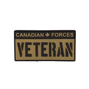 Tactical Innovations Canadian Forces Veteran -Black & Tan (PVC Patch)