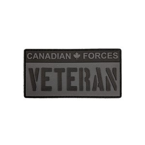 Tactical Innovations Canadian Forces Veteran -Black & Grey (PVC Patch)