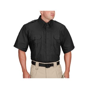 Propper International Propper Men's Lightweight Tactical Shirt (Short Sleeve) BLACK