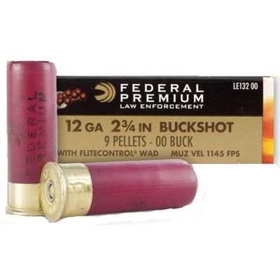 """Federal Federal Premium Law Enforcement 12 Gauge 2-3/4"""" OO Buckshot (#LE132 00)"""