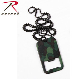 ACM Camo Dog Tag Bottle Opener