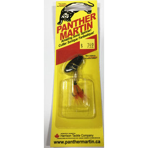 Panther Martin Panther Martin Spinner (Black Gold w/ Fly) 1/8oz (4PMF-ZY)