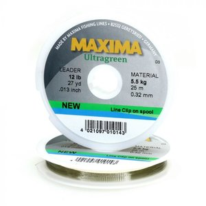 Maxima Maxima Leader Line (15 LB) 27 Yard (Line Clip On Spool)