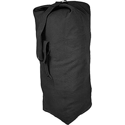 "World Famous World Famous GI Style Duffle Bag (188-BLACK) 24"" x 40"""