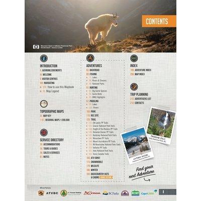 Backroad Maps Backroads MAP Book (Kootenay Rockies BC)