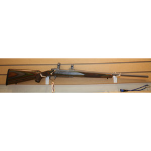 Consignment Ruger Hawkeye .308 (w/ Box & Matching Rings) Green Wood Stock