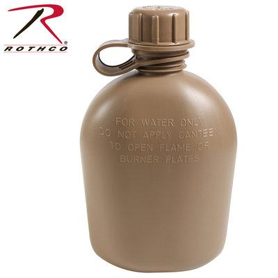 Rothco 1 Quart Plastic Canteen COYOTE TAN (BPA Free) (New)