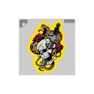 Milspec Monkey Skull Snake 1 Decal (Full Color) Dagger