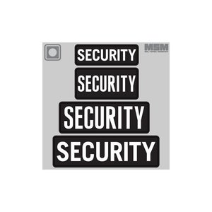 "Milspec Monkey Security PVC Velcro Patch 8.5""x3"" (Black/White)"