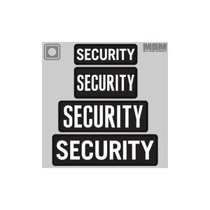 "Milspec Monkey Security PVC Velcro Patch 10""x3"" (Black/White)"