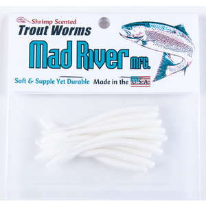 "Mad River Mad River Trout Worms (White Sand, 2.5"") 10 PACK"
