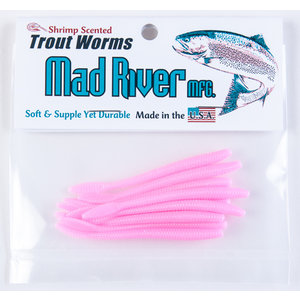 "Mad River Mad River Trout Worms (Bubblegum, 6"") 8 PACK"