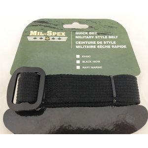 """Mil-Spex Mil-Spex Quick Dry Web Belt - Black 44"""" (3172-BLK)"""