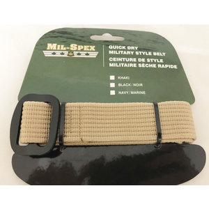 """Mil-Spex Mil-Spex Quick Dry Web Belt - Khaki 44"""" (3172-KH)"""