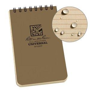 """Rite In The Rain Rite In The Rain Notebook (3"""" x 5"""") Tan / Spiral"""