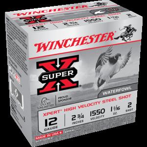 "Winchester WInchester Super-X High Velocity Steel 2-3/4"" 1-1/16oz #2 (WEX122)"
