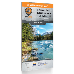 Backroad Maps Backroads MAP (Squamish, Chilliwack, Merrit) Waterproof