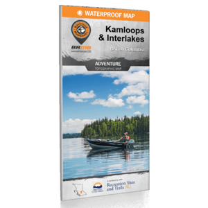 Backroad Maps Backroads MAP (Kamloops & Interlakes) Waterproof