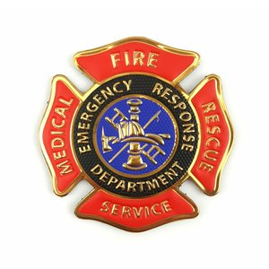"Tactical Innovations Fire Medical Services Patch (PVC) Chrome (2.75"" x 2.75"")"