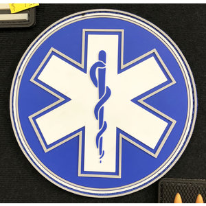Tactical Innovations EMS PVC Patch (Blue& White) Single Snake - 4""