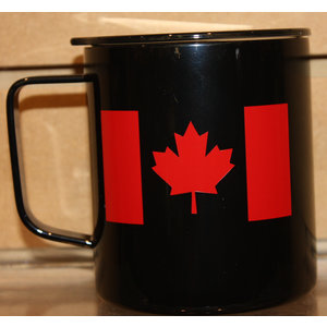 Consignment Canada Flag Mug (Black/Red)- Imperfect Creations