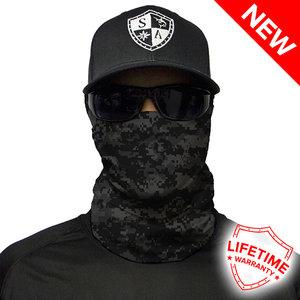 SA SA Face Shield Wrap (Blackout Digital Camo)