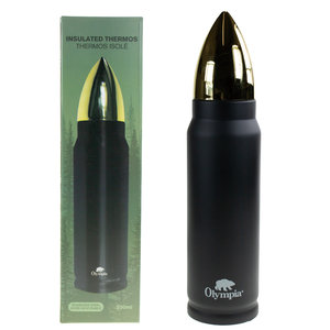 Olympia Olympia Bullet Thermos (Black) 500ml