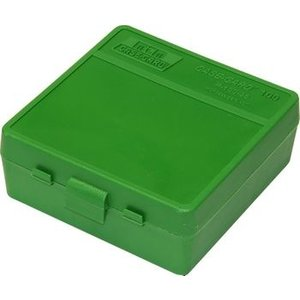 MTM MTM 100 Round Ammo Box (Green) P-100-3-10 (357 Mag, 38)