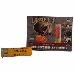 Lightfield 20 GA Wildlife Control (Rubber Double Bal) 5 Shells