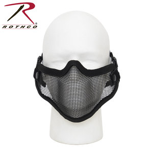 Rothco Mesh Lower Mask - Black (Rothco) Carbon Steel