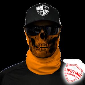 SA SA Face Shield Wrap (Orange Skull)