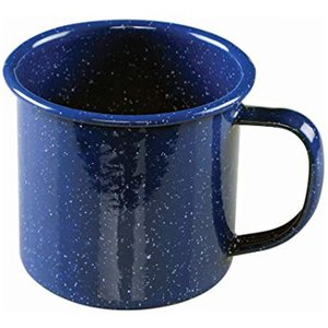 World Famous World Famous Blue Enamel Soup Mug 10cm (#703)