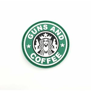 Tactical Innovations Guns and Coffee PVC Patch (Green & White) PVC