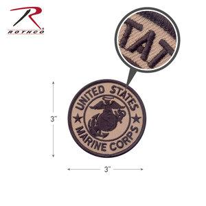 "Rothco USMC Marines Corp Patch 3"" (Coyote) Velcro"