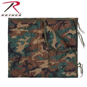 Rothco Rothco Woodland Poncho Liner (Zipper) #88476