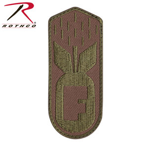 Rothco F Bomb Coyote Tan Patch (Velcro)
