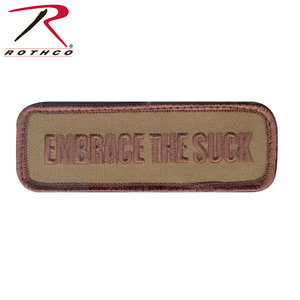 Rothco Embrace the Suck (Coyote) Patch - Velcro