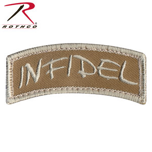 Rothco Infidel Shoulder Patch (Velcro) Tan